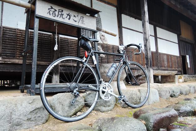 再出発!の前に愛車撮影。自転車の写真はよく撮った。